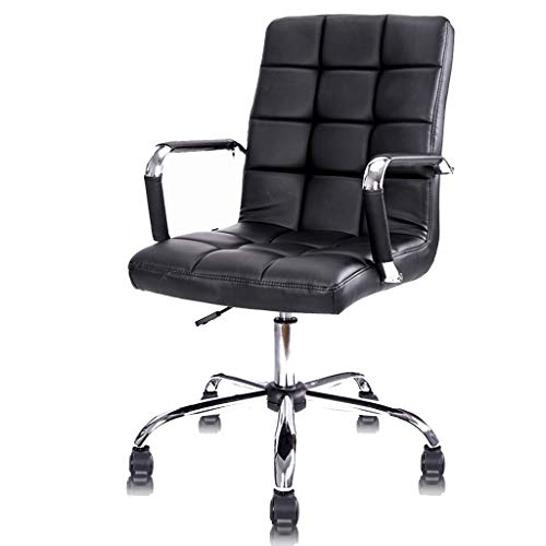 Gaming Stuhl, Bürodrehstuhl Computer Stuhl Home Office Stuhl Drehstuhl Ergonomischer Ledersessel Fashion Rise Drop Seat WEIYV (Color : Black, Size : 113-121cm) -
