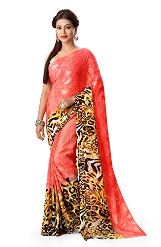 Gl Sarees Brasso Saree (Gl0441_Yellow And Gajari Combination)