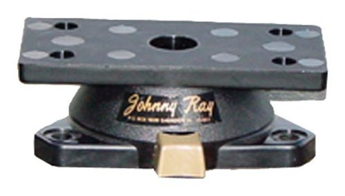Johnny Ray JR-400 Marine 1.25 by 2.875-Inch Top Push-Button Release Portable Sonar Swivel Mount, Black Finish by Johnny Ray - Portable Push-button
