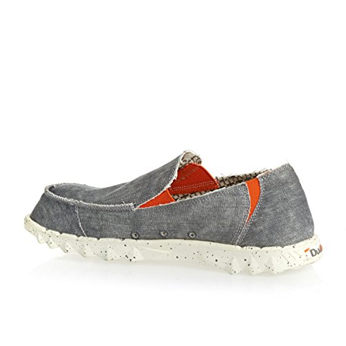 Hey Dude Mens Farty Funk Canvas Shoes greys