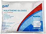 Disposable Plastic Clear Polythene Gloves - Pack of 100 (Medium)