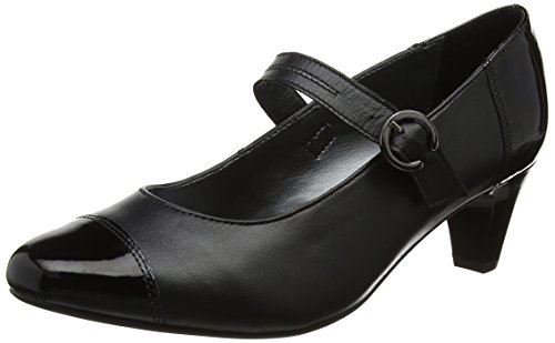 Padders Women's Jean Closed-Toe Heels, Black (Black Combi), 5 UK 38 EU
