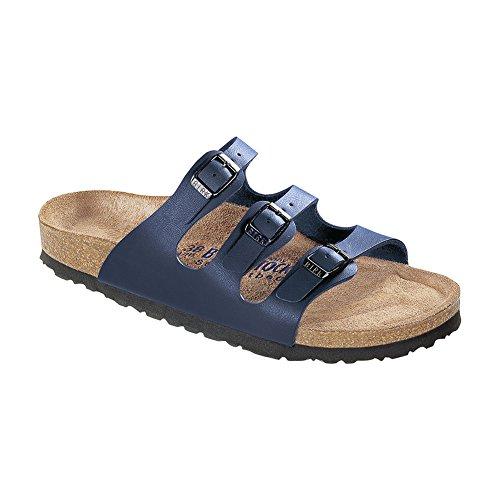 Birkenstock Florida Cuir Sandale Bleu Marine