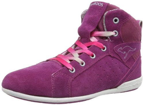 KangaROOS Gabija 1441A Mädchen Sneaker, Pink (magenta/silver 691), EU 40