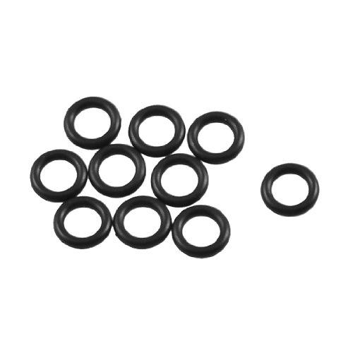 Preisvergleich Produktbild 10Stück Black Rubber Ölfilter O-Ring Dichtung Dichtungen 6mm x 1,8mm