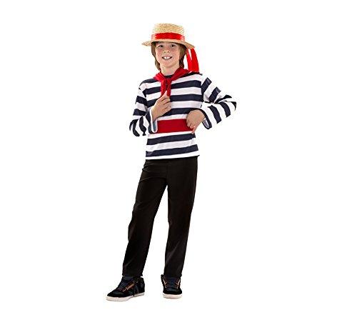 Imagen de disfraz de veneciano para niños, incluye sombrero