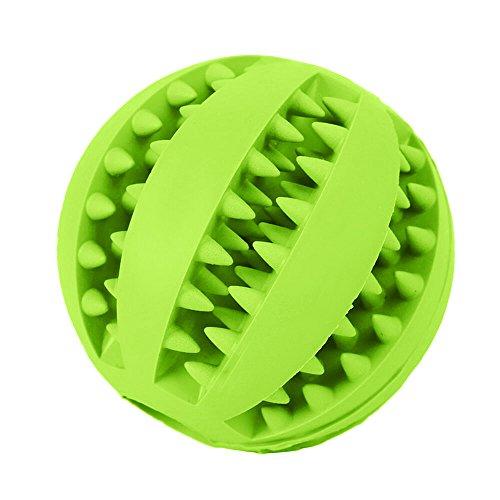 Hundespielzeug Ball aus Naturkautschuk Hundeball Zahnpflegefunktion Langlebiger Hundespielball mit Noppen und Löchern für Leckerli Hundetraining