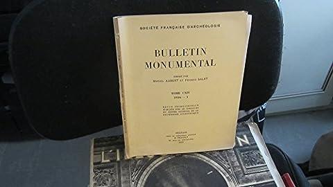 Bulletin Monumental,tome CXIV (114),1956,fascicule 1 / Survivances Antiques dans le Décor Roman du Poitou,de l