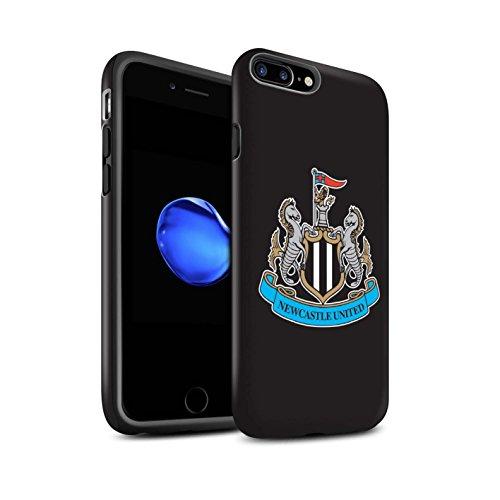 Offiziell Newcastle United FC Hülle / Matte Harten Stoßfest Case für Apple iPhone 8 / Mono/Schwarz Muster / NUFC Fußball Crest Kollektion Farbe/Schwarz