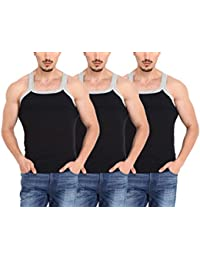 ZIMFIT Gym Vest - Pack of 3 (3Black)