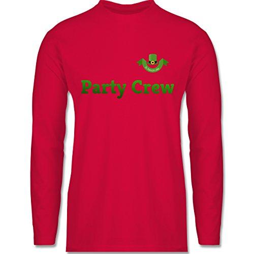 Festival - St. Patricks Day Party Crew - Longsleeve / langärmeliges T-Shirt für Herren Rot