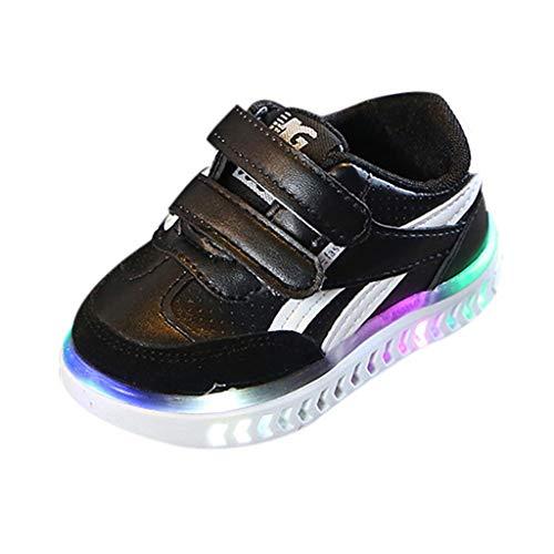 BaZhaHei Scarpe Bambino con Luce a LED Casual Unisex Scarpe Sportive Traspirante Non-Slip Sneaker Bambino Calcio Ginnastica Scarpe da Corsa Eleganti Bambini e Ragazzo Ragazze