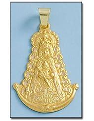 LIOR -Colgante -Medalla Oro de Ley 18k(750) Virgen de Rocio Silueta
