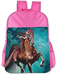 Funny Animal Blue Horse Children School Backpack Carry Bag For Teens Boys Girl