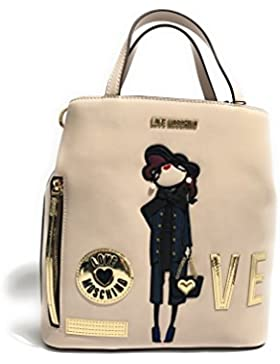 Love Moschino backpack Calf Pu ivory