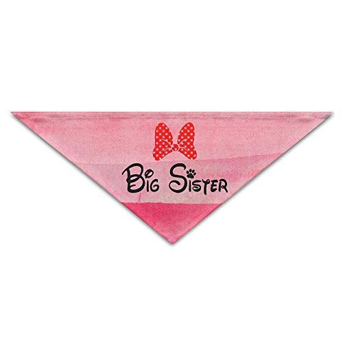 Hipiyoled Big Sister Bowknot Dog Triangle Head Scarf Pet Bandana Collars Neckerchief Bandana Bibs Triangle Head Scarfs Accessories