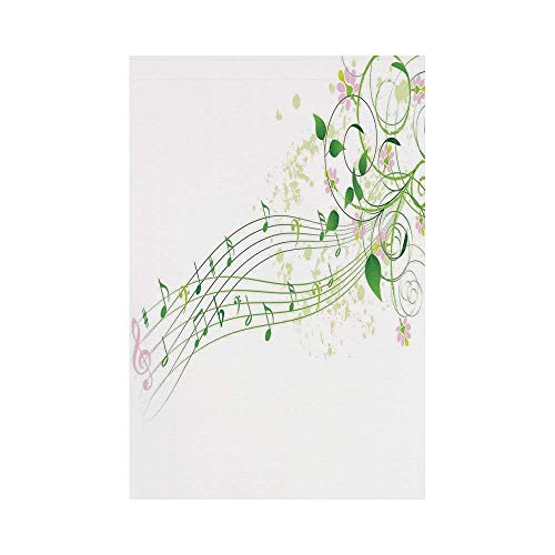 Liumiang Eco-Friendly Manual Custom Garden Flag Demonstration Flag Game Flag,Music Decor,Abstract Spring Song Melody Romantic Floral Festival Celebration Flowerecor d¨¦COR (Pic 4 Song)