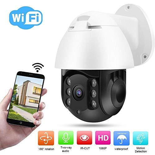 1080P wasserdichte Drahtlose 6 Lichter IR PTZ Speed   Dome Outdoor Überwachungskamera Eingebaute WiFi Modul, TF Karten Steckplatz Unterstützung 180 ° Drehung des Bildschirms etc. (EU) Low-light-kamera-set
