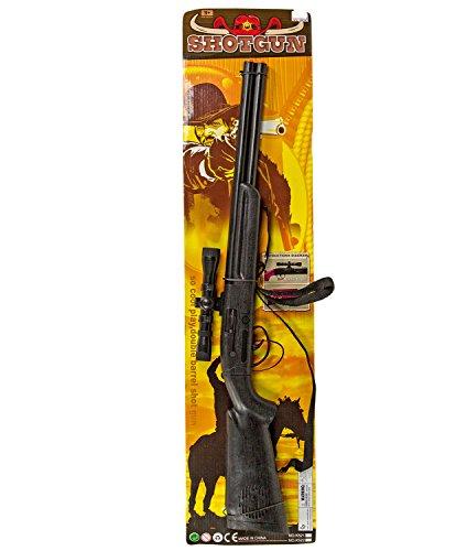 Western Gewehr Arizona Cowboy Kostüm Waffe Flinte Verkleidung 79cm Tragegurt