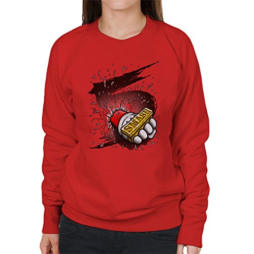 Cloud City 7 Super Smash Bros 5 Knuckle Duster Women's Sweatshirt