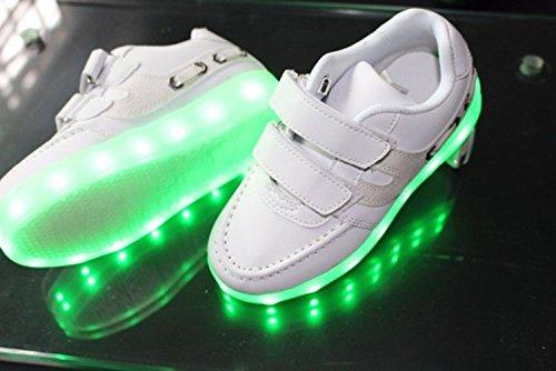 [+Kleines Handtuch]Kinderschuhe USB Lade Licht Jungen emittierende Schuhmädchenschuh leuchtende LED beleuchtete Sportschuhe großer Junge Sc c20