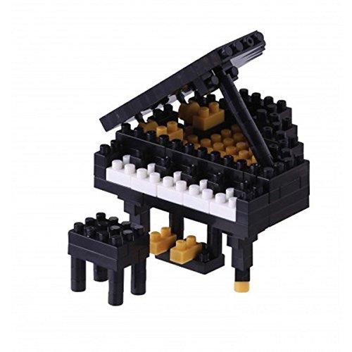 NANOBLOCK 14945 - Grand Piano, Flügel, 3D-Puzzle, Mini Collection, 167 Teile, Schwierigkeitsstufe 2, mittel (Mini Grand Piano)