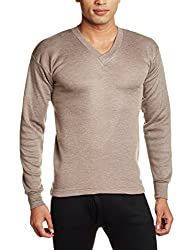 Rupa Thermocot Mens Cotton Thermal Top (8903978490625_AGNI V-N F-S -85_Brown)