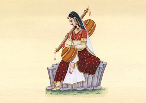 Sweet girl play violin wall ON FINE ART PAPER HD WALLPAPER POSTER  available at amazon for Rs.190