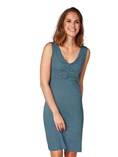 TOM TAILOR für Frauen Kleider & Jumpsuits Kleid mit V-Ausschnitt Petrol, 34