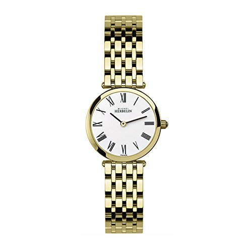 MICHEL HERBELIN WOMEN'S GOLD-TONE STEEL BRACELET & CASE QUARTZ WATCH 1045/BP01