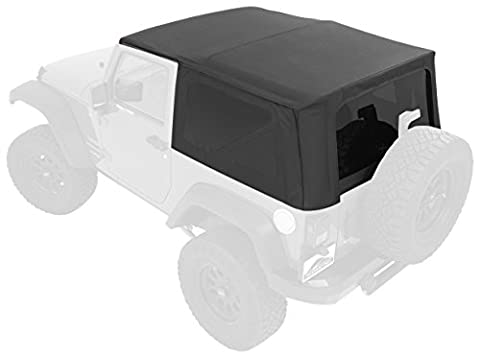 Pavement Ends by Bestop 51202-35 Black Diamond Replay Replacement Soft Top Tinted Windows-No door skins included-No frame hardware included- 2007-2009 Jeep Wrangler (except Unlimited) by Pavement Ends