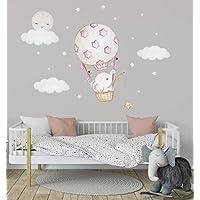 Elefant Ballon Aufkleber Babyzimmer Wanddeko Kinderzimmerdekoration Sticker Sterne Wandtattoo Himmel Wandsticker Wolken Blau Wandaufkleber Fur Kinderzimmer Ideen Madchen Wohnzimmer Gold Schlafzim Kinderzimmer Kinderzimmerdekoration