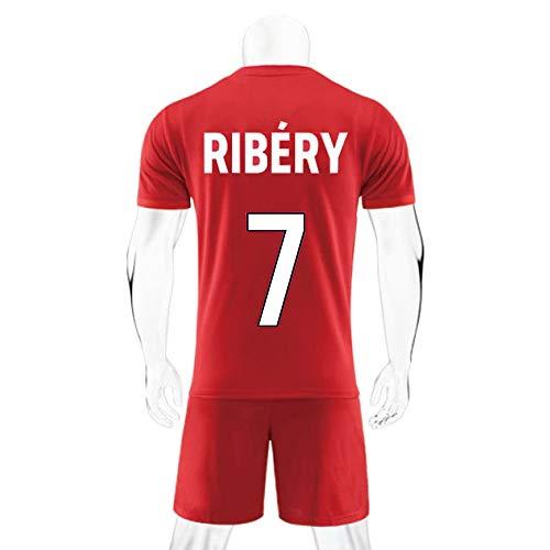 JXYA-Jersey Fußball T-Shirt-Franck Ribéry-7-für Fußball Sport Fan Team Jersey T-Shirt Männer und Frauen T-Shirts Fans (Color : B, Size : 16)