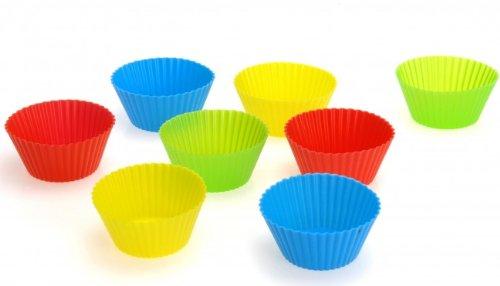8er SET Silikon Muffinform - Silikonbackform - Kuchenform - Muffin Backform - Muffinförmchen - Cup Cake