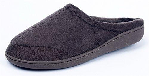 Dunkel Braun Wildleder Kinder Schuhe (AgeeMi Shoes Damen Soft Unisex Rund Schließen Zehe Pantoffeln Flache Hausschuhe,EuT05 Dunkel Braun M(39/40))