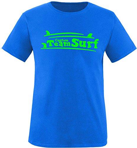 EZYshirt® Team Custom Surf Herren Rundhals T-Shirt Royal/Neongrün