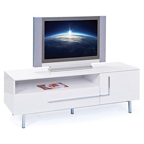Links 50700670 TV-Kommode Deltino III MDF, Hochglanz, 145 x 47 x 49 cm, weiᄃ - 2
