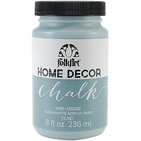 Plaid: Craft Folkart Home Decor Chalk Paint 8 Oz-Cascade