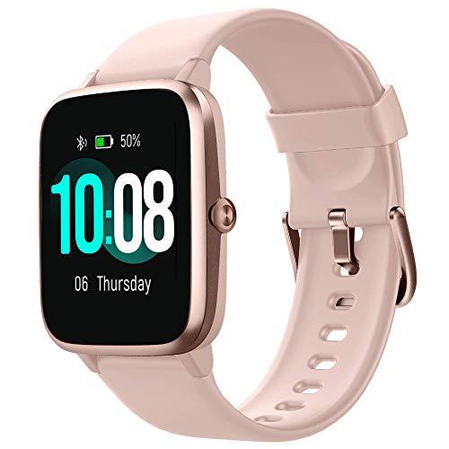 【Neueste Modell】 GRDE Smartwatch Bluetooth V5.0 Fitness Armbanduhr 1,3 Zoll Voll Touchscreen Sportuhr mit Schrittzähler Herzfrequenz/Schlaf Monitor 5 ATM Wasserdicht Fitness Tracker für IOS Android