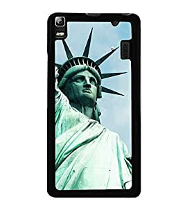 Statue of Liberty 2D Hard Polycarbonate Designer Back Case Cover for Lenovo A7000 :: Lenovo A7000 Plus :: Lenovo K3 Note