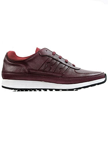 Will's Vegan Shoes LA TRAINERS BURGUNDY-UK 13/EU 47/US 14