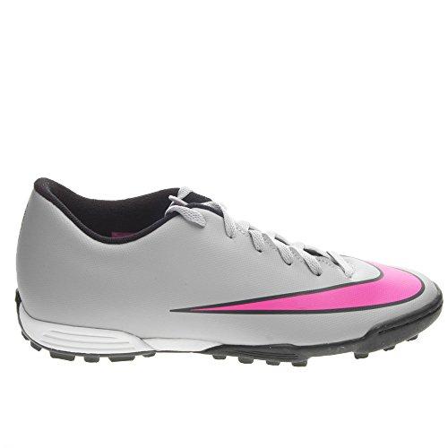 Nike Mercurial Vortex Ii Tf, Chaussures de Football Compétition Homme Gris / Rosa / Negro (Wolf Grey / Hyper Pink-Black-Blk)
