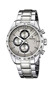 University Sports Press F16759/2 - Reloj de cuarzo para hombre, con correa de acero inoxidable, color plateado de University Sports Press