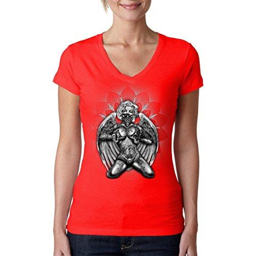 Im-Shirt - Marilyn - Guns, Tattoos, Wings cooles Fun Girlie Shirt - verschiedene Farben Rot