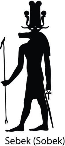 """ThatVinylPlace Sebek-Sobek Egyp Gott Sticker, Ägyptischer Gott Sticker, Vinyl, Auto-Fenster, Schlafzimmer, Wohnzimmer (20cm Höhe oder 8 """") Schwarz"""
