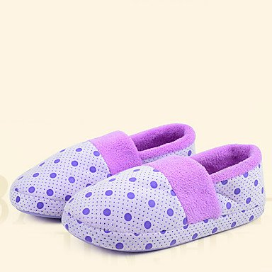 zhENfu donna pantofole & amp; flip-flops comfort per l'inverno Felpa casual tacco piatto blu porpora arrossendo rosa Purple
