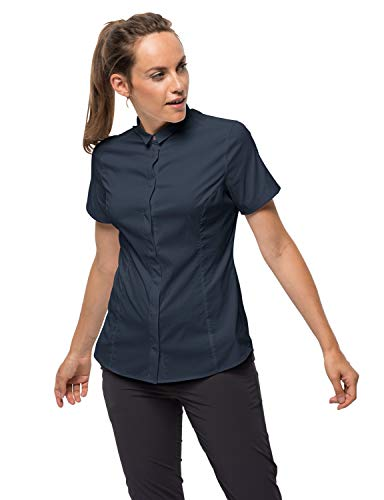 Jack Wolfskin Damen JWP Shirt Bluse, Night Blue, L -