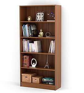 BLUEWUD Alex Engineered Wood Bookshelf Storage Cabinet/Book Rack/Bookcase for Home & Office (Walnut Finish)