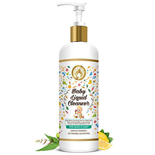 Mom & World Baby Anti Bacterial Liquid Cleanser 500ml - with Lemon & Neem - No SLS, Paraben, Silicone