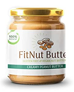 Best Creamy Peanut Butter | 100% Natural| Unsweetened | No Preservatives | Vegan, Gluten Free | Non GMO (200grams) | FitNut Butter
